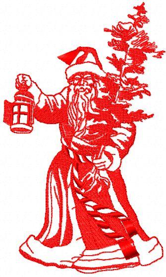 Santa Claus free machine embroidery design