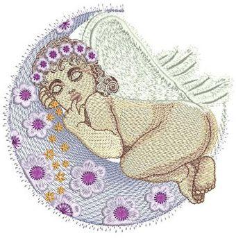 Sleeping Angel embroidery design