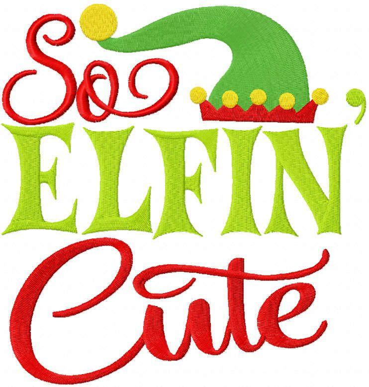 So elfin cute embroidery design
