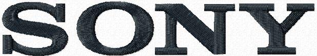 Sony logo machine embroidery design