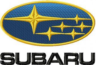 Subaru logo machine embroidery design