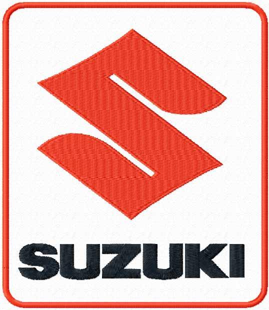 Suzuki logo machine embroidery design