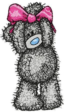 Teddy Bear Girl embroidery design