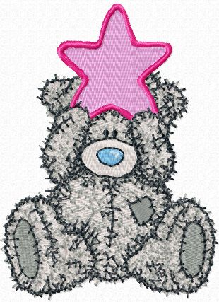 Teddy Bear Happy Christmas embroidery design