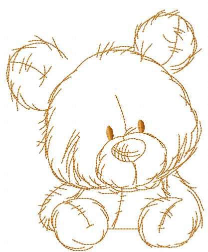 Teddy Bear watch embroidery design