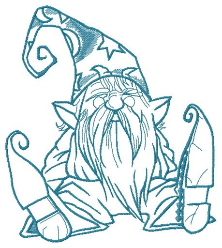 Tiny wizard embroidery design 2