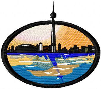 Toronto free machine embroidery design
