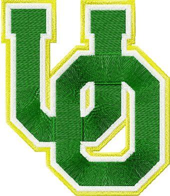 University of Oregon logo machine embroidery design
