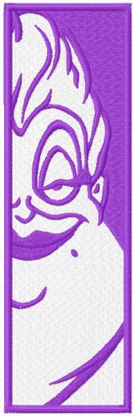 Ursula bookmark embroidery design