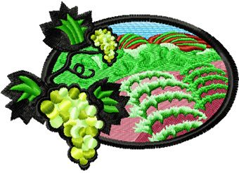 Vineyards free machine embroidery design