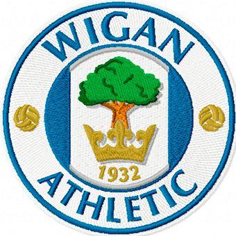 Wigan Athletic logo machine embroidery design