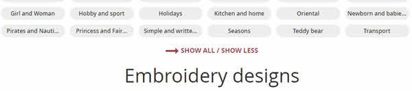Show less show more categories