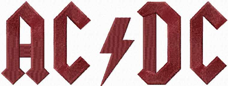 AC/DC Logo machine embroidery design