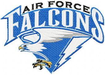 Air Force Falcons logo machine embroidery design