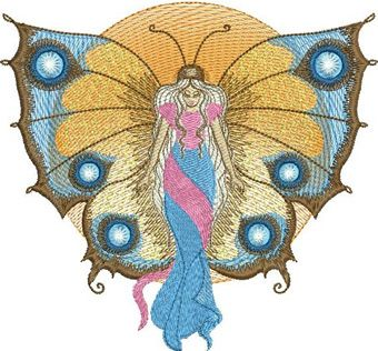 Butterfly Angel embroidery design