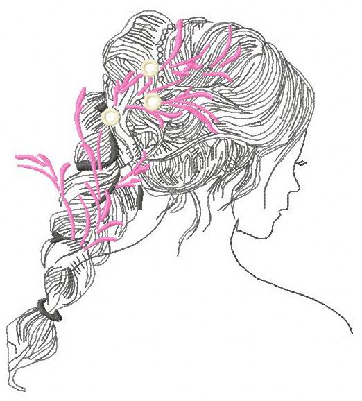 Any hairstyles here machine embroidery design 3