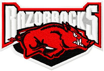 Arkansas Razorbacks Logo machine embroidery design