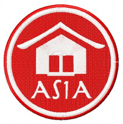 Asia badge free embroidery design