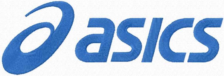 Asics logo machine embroidery design