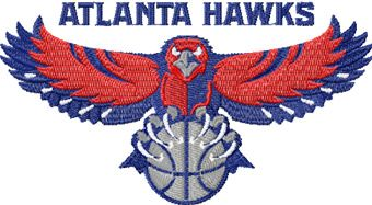 Atlanta Hawks logo machine embroidery design