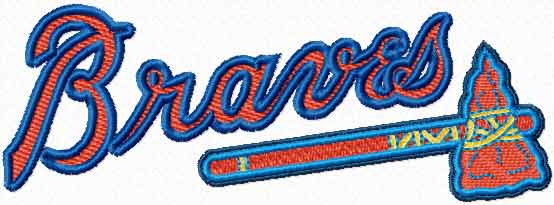 Atlanta Braves logo machine embroidery design