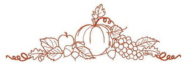 Delicious crops embroidery design