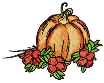 Autumn gifts embroidery design 3