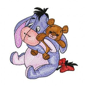 Baby Eeyore embroidery design