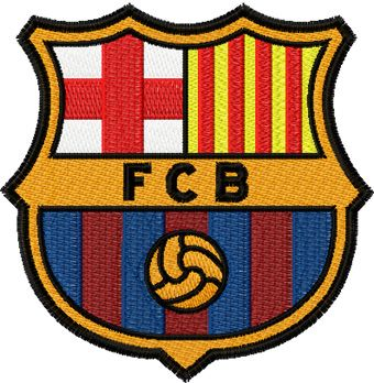 FC Barcelona logo machine embroidery design