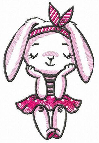 Bunny dreams embroidery design