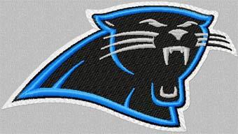 Carolina Panthers machine embroidery design