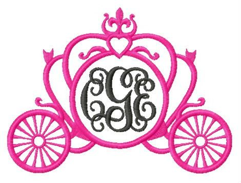 Carriage embroidery design