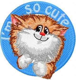 Cat I'm so cute embroidery design