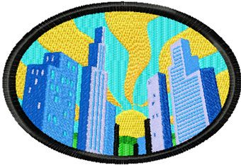 Chicago free machine embroidery design