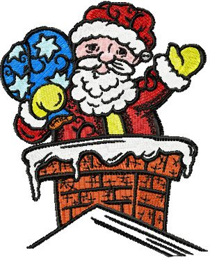 Christmas drawings - Santa embroidery design