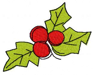 Christmas berries free embroidery design 13