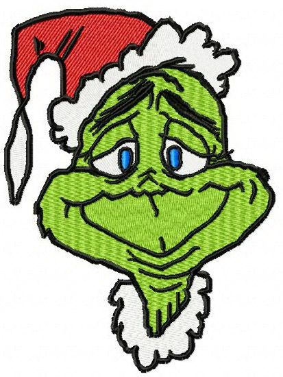 Christmas Grinch Embroidery Design