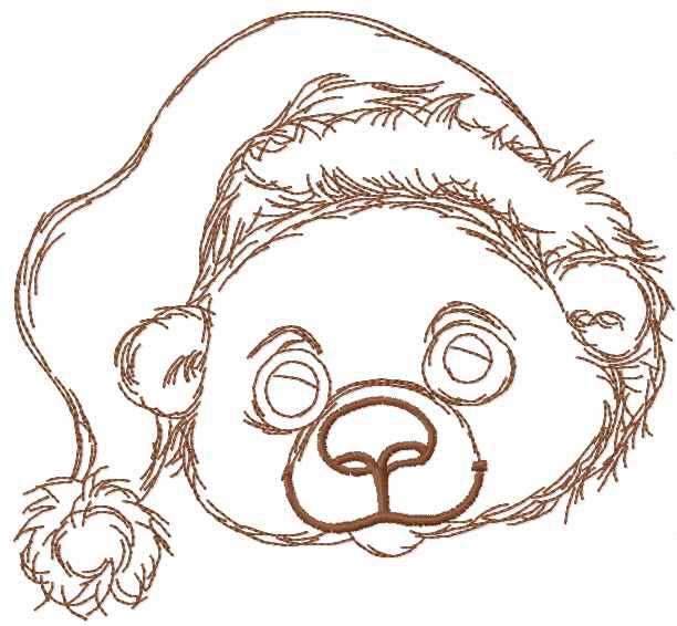 Chrsitmas teddy bear embroidery design