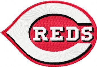 Cincinnati Reds Logo machine embroidery design