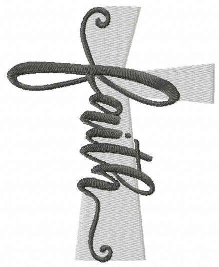 Cross faith free embroidery design