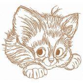 Adorable kitten embroidery design 6