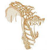 African snake sketch embroidery design