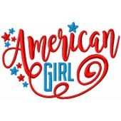American girls embroidery design
