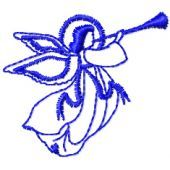 Angel free machine embroidery design
