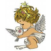 Angel with pigeon