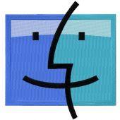 Apple Mac OS logo machine embroidery design
