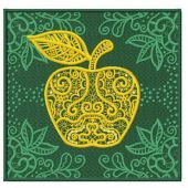 Apple machine embroidery design