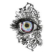 Attractive eye embroidery design