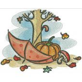 Autumn machine embroidery design