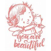 Baby cupid embroidery design 9